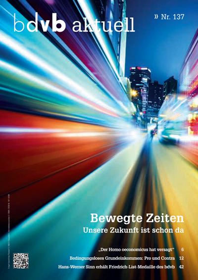 Titel/Cover Mitglieder-Magazin bdvb aktuell, Ausgabe 137