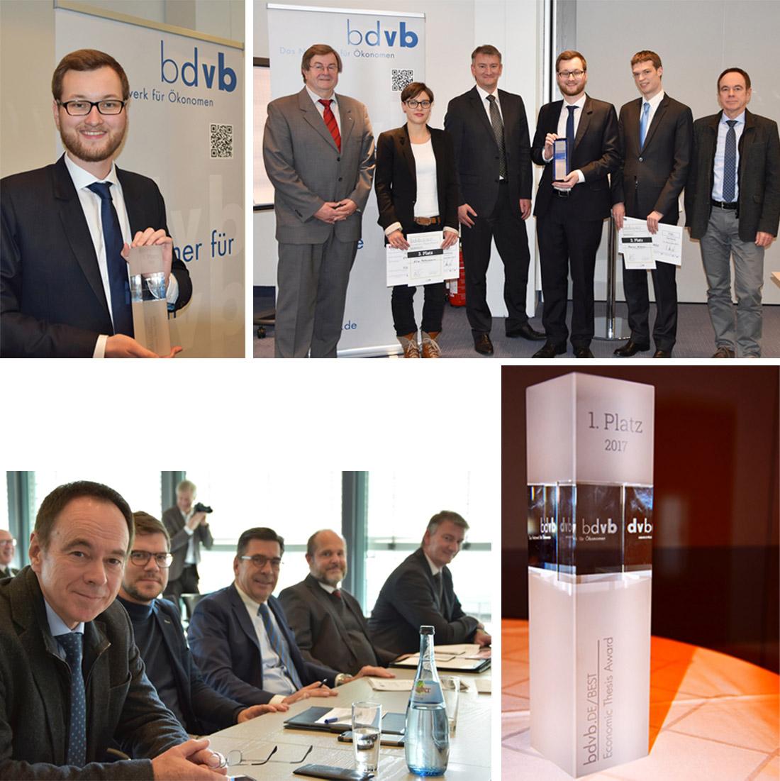 Verleihung bdvb BEST Economic Thesis Award, Collage, News