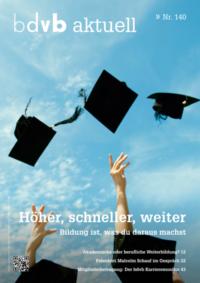 Titel/Cover Mitglieder-Magazin bdvb aktuell, Ausgabe 140