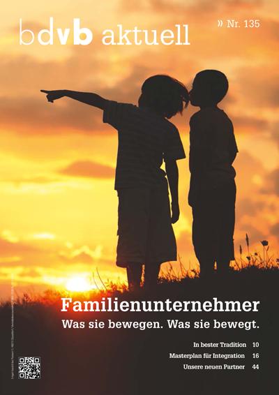 Titel/Cover Mitglieder-Magazin bdvb aktuell, Ausgabe 135