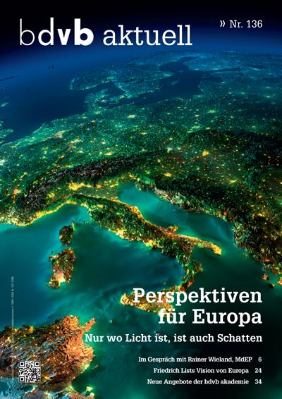 Titel/Cover Mitglieder-Magazin bdvb aktuell, Ausgabe 136